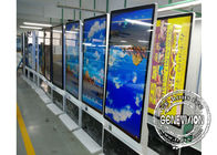 Big Rotatable Totem 55inch Portrait and Landscape Displaying Information Kiosk FHD LCD Screen Rotatable Stand