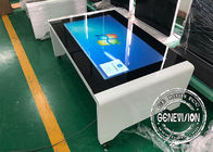 Waterproof Capacitive Touch Screen Digital Signage 43'' Coffee / Tea Table With Windows System