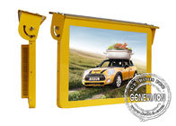 Gold Roof Hanging  Automotive Digital Signage 27 Inch Shock Proof Metal Housing