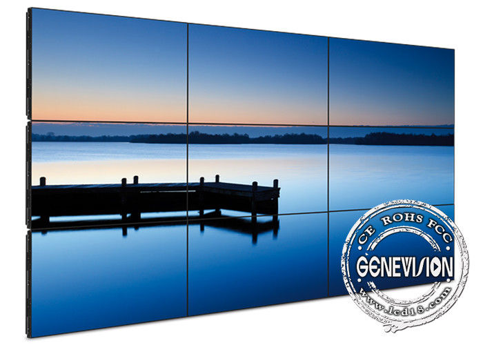 Multiple Narrow Bezel Digital Signage Video Wall , 55 inch wall mounted signage