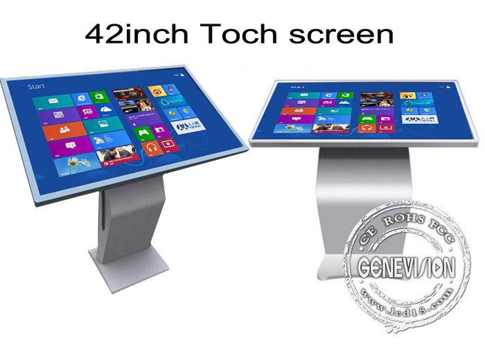 42 inch Multi Function All In One IR Touch Screen Kiosk Floor Stand Metal Case