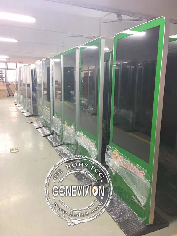 55inch 700cd/m2 Brightness Android Customized Logo Kiosk Digital Signage Stand Remote Managing Advertising Screen