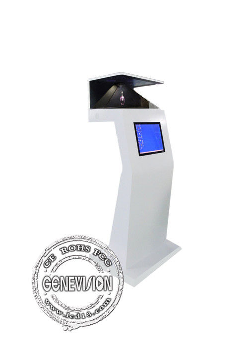 HD Virtual Projection 270 Degree Pyramid 3D Holographic Display Digital Signage Floor Standing