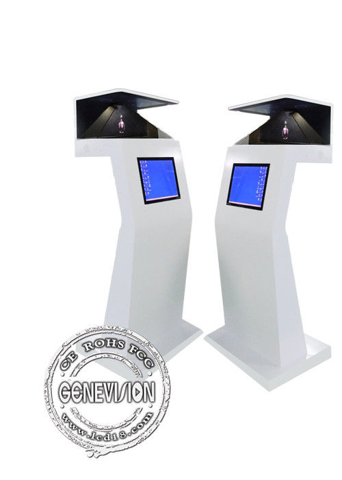 HD Floor Standing Digital Signage Virtual Projection 270 Degree Pyramid 3D Holographic Display