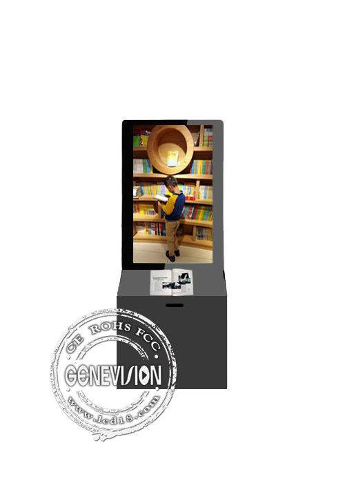 Full HD Lcd Display Kiosk Digital Signage , Lcd Digital Monitor Donation Box Stands