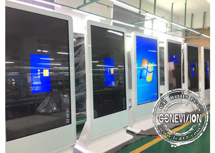 55 inch Sloping Style PC Touch Kiosk and Floorstanding Touch Monitor with HDMI in Two OS