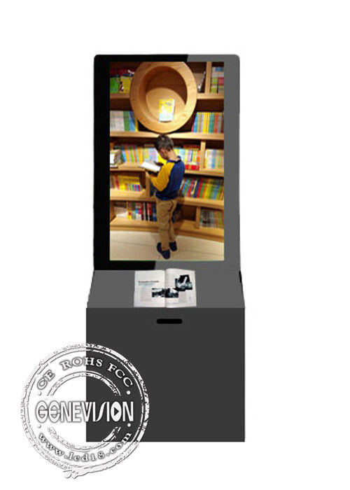 Full HD Lcd Display Kiosk Digital Signage , Lcd Digital Monitor Donation Box Stands
