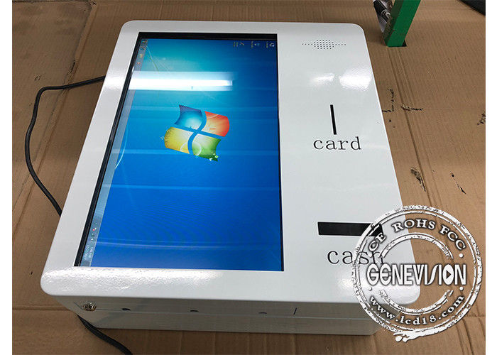 21.5 inch Smart Touchscreen Self service Machine with Cash Receipt and Bank Card