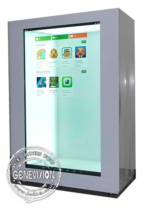 15 Inch Landscape And Portrait Transparent Display Monitor , USB Update Transparent Digital Signage