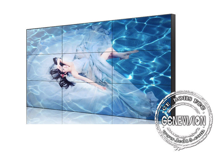 55 Inch Digital Signage Video Wall 3.5mm Super Narrow Bezel 4K UHD for government / Police