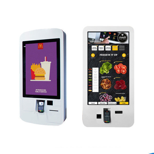 32 inch Self Service Payment Kiosk Win10 Restaurant Smart LCD Payment Machine