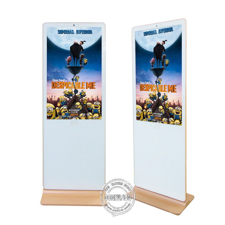 Android Digital Signage LCD Advertising Media Player White Color Iphone Shape
