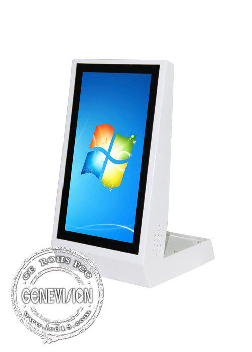 15.6 inch table kiosk stand LG capacitance touch screen 300cd/m2 WIFI Windows advertising display All in one PC