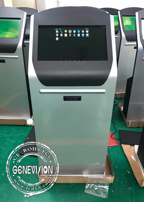 Epson Thermal Printer Touch Screen Kiosk 21.5 Inch Full HD Android 7.1 Queuing Machine Applied