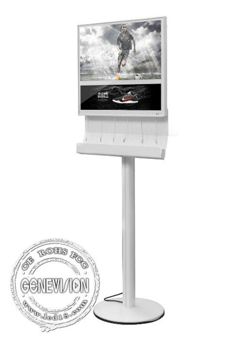 Full HD Charging Station Kiosk Digital Signage 18.5 Inch LED Light Box LCD Advertising Device