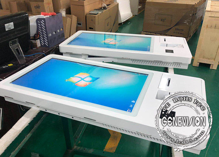 Full HD Wall Mount LCD Display Payment Machine Customized 23.6 Inch With Windows 10