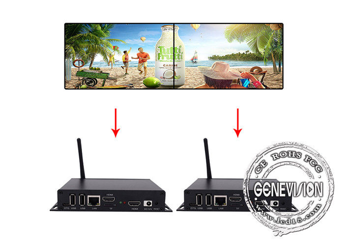 Palm Size Android Ad HD Media Player Box HDMI TV Monitor For Symmetric Video Wall