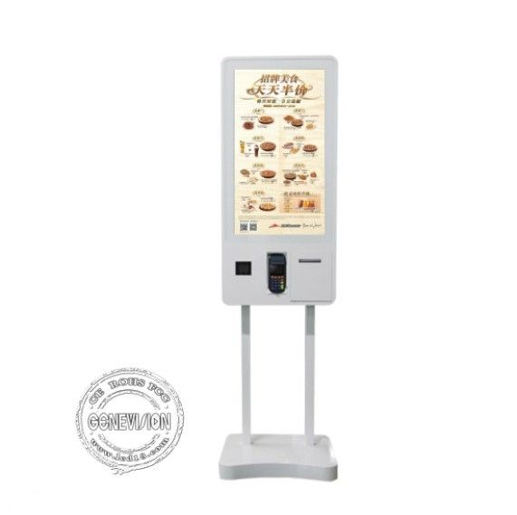 32 Inch Restaurant Self Service Order Touch Screen Payment Kiosk Android System