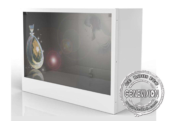 HD 32 Inch Transparent Lcd Showcase Advertising Player For Cloth Store / Shopping Mall