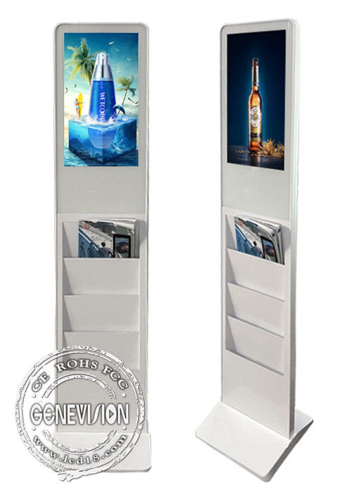Lobby Floor Standing Digital Signage 1080 HD Andriod Mainboard Advertising Machine