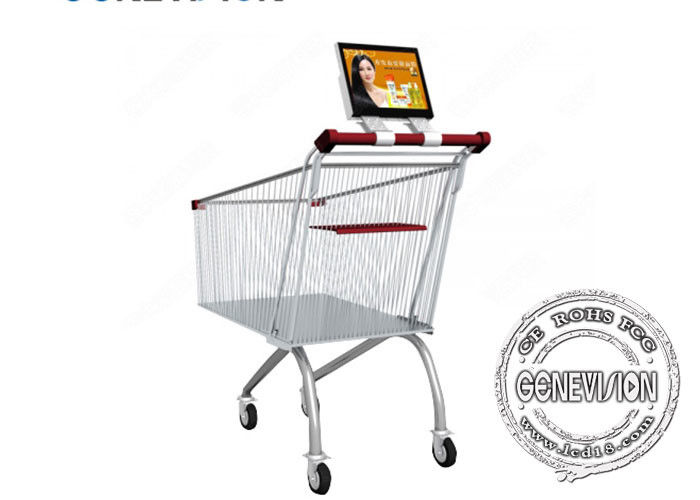 Android Shopping Cart Wifi Digital Signage Screen 10.1 Inch With Battery Inbuilt