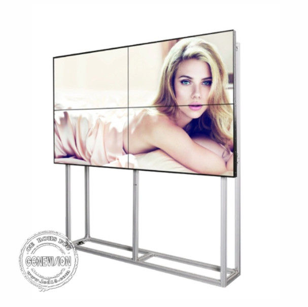Full HD LCD Digital Signage Seamless Video Wall 55 Inch Ultra Thin Bezel With  Bracket