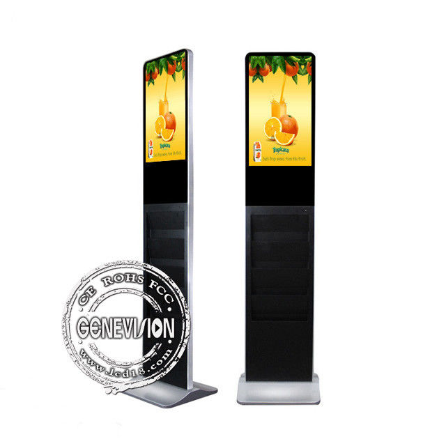 21.5'' Standing Floor Advertising Player AC 110V~240V With Stand Alone Version And Holder