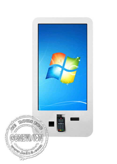 Full HD Wall Mount Touch Screen Self-service Payment Machine Customized 23.6 Inch With Windows 10