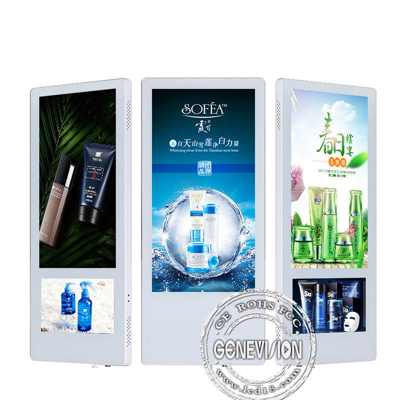 Indoor LCD Elevator Advertising Screen Display Wall Mounted HD 18.5 10 Inch Dual Screen