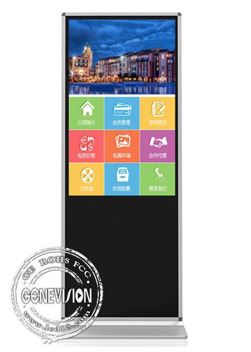 Shopping Mall Advertising Touch Screen Kiosk 4G Network Free Standing 43'' Android