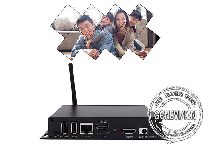 Palm Size Android Ad HD Media Player Box  TV Monitor For Symmetric Video Wall