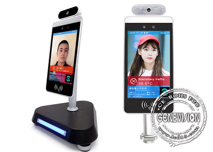"Reception Desk Android 7.1 8"" Thermoscanner Device Kiosk Digital Signage with Wifi"