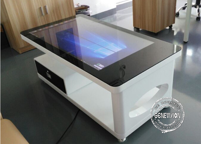 All In One Pc Waterproof Capacitive Multi Touch Table / Interactive Coffee  Table Full Hd