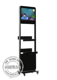 China 24 Inch floor stand lcd Kiosk Digital Signage metal case , hd signage display boards player factory