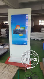 China Lcd Touch Screen Kiosk Advertising Totem / Interactive Free Standing Digital Signage factory