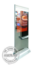 43 Inch Standalone Magic Mirror Standee , FHD Mirror Advertising Kiosk Body Sensor