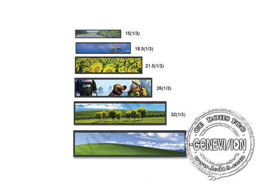 19.7 Inch Bus Android Stretch Display in 500cd/m2 Super Wide Bar Display Full Menu Displaying