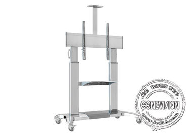 """Big Screen 60""""-100"""" Advertising TV Stand Vesa 600*600 Aluminum Alloy Movable Stand"""