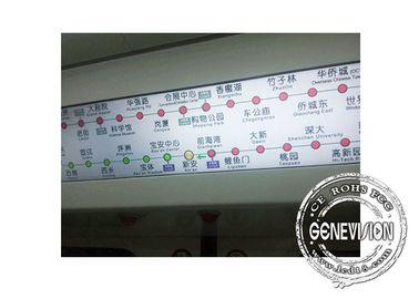 Shockproof 28.8 inch 500cd/m2 Bus Digital Signage Subway GPS Stretch Display