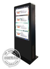 55inch Outdoor Waterproof IP65 Capcitive Touch Kiosk Road Advertising Sign Interactive Way Finder Standee