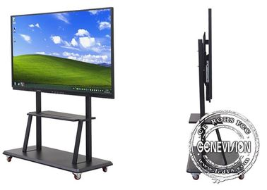 "50"" Anti-glare Ultra Slim Education Video Wall Touch Screen 400cd/m2 High Brightness Windows Android Big Media Screen"