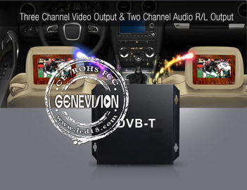HD DVB - T Car Digital TV Receiver with 2 Dibcom tuners active amplified antenna
