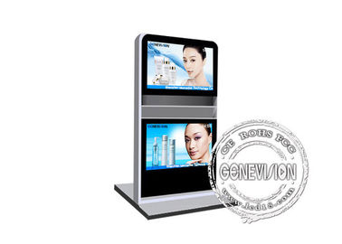 China Automatic Interactive Digital Signage , double lcd Kiosk Signage, advertising totem factory