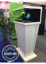 Kiosk Digital Signage 3d Hologram Projector Pyramid Full HD CE / RoHS Certificated