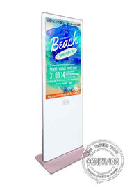 Standee Android Wireless Kiosk Digital Signage Lcd Display 1920*1080 Max Resolution