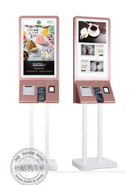 China Floor Standing Touch Screen Digital Signage Self Service Payment Kiosk With POS Terminal factory
