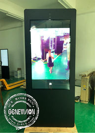 Waterproof Interactive Outdoor Digital Signage , AC High Brightness Sensor Road Sign with Camera