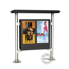 Street Floor Stand Dual Screen Digital Outdoor Signs 2000cd High Brightness