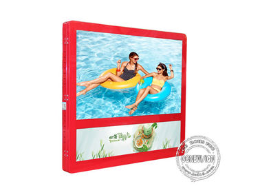 Red Colour Wall Mount LCD Display Light Box 27 Inch For Elevator Advertising