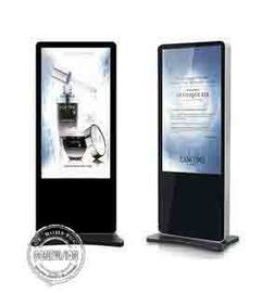 China Battery Powered Digital Signage Floor Stands , Touch Screen Kiosk Stand 86 Inch Large Size factory